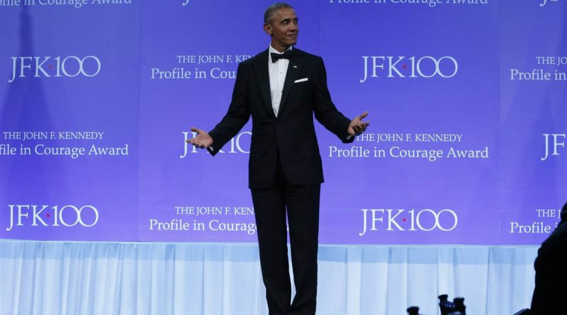 Former US President Barack Obama Receives the 2017 John F. Kennedy Profile in Courage Award
