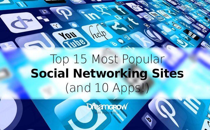 Top Most 15 Popular Social Networks App Worldwide