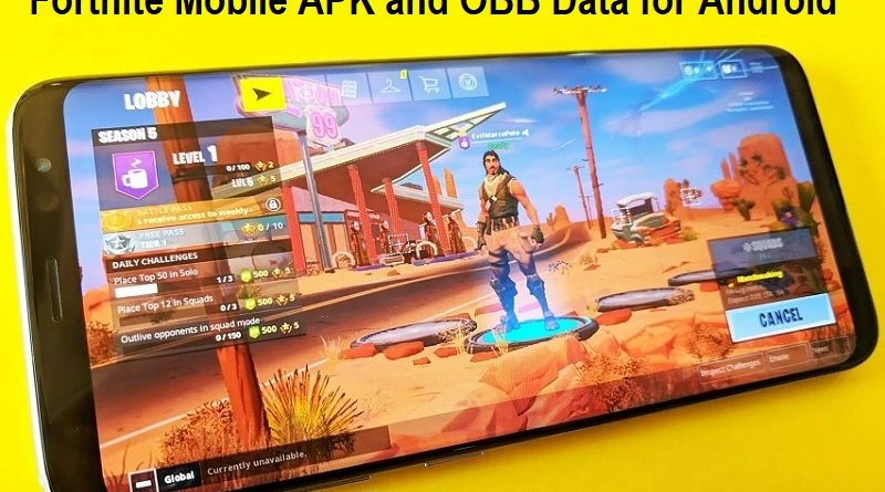 Fortnite Mobile APK and OBB Data for Android