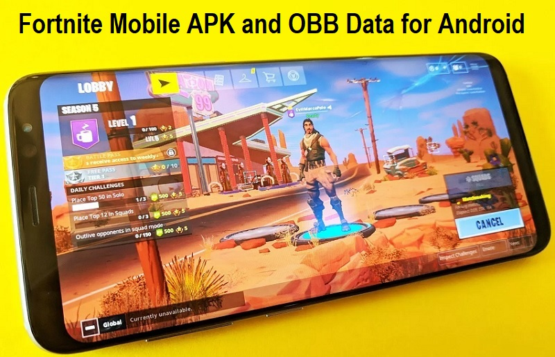 Download Fortnite Mobile APK and OBB Data Offline for