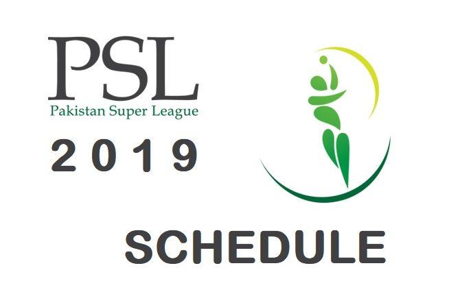 PSL 2019 Pakistan Super League 2019 Schedule