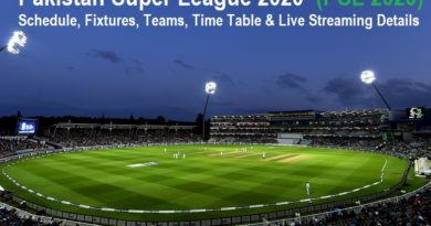 Pakistan Supe League 2020 (PSL 2020) Schedule, Fixtures, Teams, Time Table & Live Streaming Details